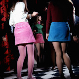 Retro Girls on the Dancefloor 1960s, Music, Entertaining, Mini Skirts Photographic Print
