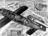 Cutaway Diagram of the V-1 'Flying Bomb'; Second World War Photographic Print