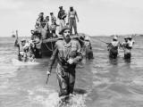Brigadier Cotterill-Hill Wades Ashore  Burma Photographic Print by Robert Hunt
