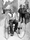 Royal Navy Sailor on a Tricycle, 1891 Photographic Print