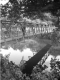 Small Bridge over the River Eden at Leigh, Kent Photographic Print by Vanessa Wagstaff