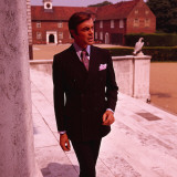 Retro Male Fashion Model, Suit, Suited, Smart, Tailored Photographic Print