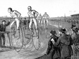 Bicycle Race at Lillie Bridge, London, 1875 Photographic Print