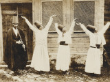 Caucasus, Young Circassian Dervishes with Ney Player Photographic Print