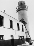 Scarborough Lighthouse Damage, 1914 Photographic Print by Robert Hunt