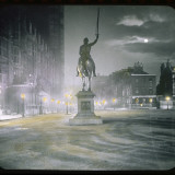 Palace Yard by Night Showing the Statue of Richard the Lionheart Photographie