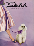Front Cover Photograph Showing a Lady Posed with a Poodle Photographic Print