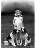 Child and Spaniel Photographic Print