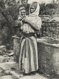 Black African Mother and Child from Southern Algeria, Photographic Print