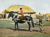 Russian Farm Worker on a Horse Photographic Print