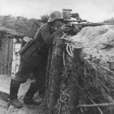 German Sniper in a Trench on the Western Front During World War I Photographie par Robert Hunt