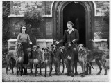 Miss Hartley with a Group of Eight Rotherwood Deerhounds Photographic Print