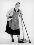 Mrs Mop the Cleaner Photographic Print