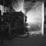 Rail Butt Welding - the Sparks Fly Photographic Print by Heinz Zinram