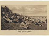 On the Pebbly Beach at Deal, Kent, Some Put Up Deckchairs, Others Put Up with the Pebbles Photographic Print
