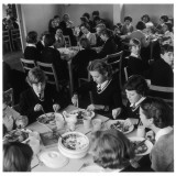 Pupils Tuck into their School Dinners at the Dorothy Stringer Secondary School, Brighton Photographic Print by Henry Grant