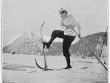 Sir Arthur Conan Doyle Demonstrating a Novice Turning Whilst Skiing in the Alps Photographic Print