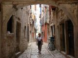 Narrow Street in Rovinj, Croatia Photographic Print
