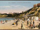 La Plage De La Cote Des Basques at Biarritz, on the Cote D'Atlantique Photographic Print
