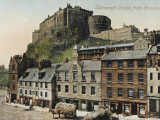 Edinburgh Castle from the Grassmarket Photographic Print