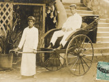 English Gent in Egypt in Rickshaw Photographic Print