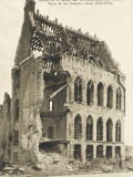 Ruins of the Templars House and Post Office, Ypres - End of WWI Photographic Print