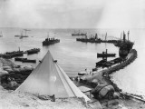 Improvised Harbour at Gallipoli WWI Photographic Print by Robert Hunt