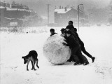 Making a Giant Snowball - Manchester 1968 Photographic Print by Shirley Baker