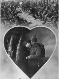 German Memory Card for Couple Depicting Victorious German Troops Routing their Enemy Photographic Print by Robert Hunt
