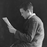 Boy Reading, Photographic Portrait 1936 Photographic Print
