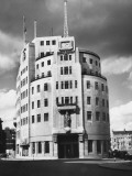 BBC Broadcasting House at Portland Place, London, also known as 'the Hub of Truth' Photographic Print