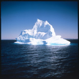 A Floating Iceberg in Disko Bay at Qeqertarsuaq (Godhavn), Greenland Photographic Print