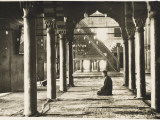Elderly Man at Prayer in an Istanbul Mosque Photographic Print