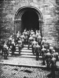 German Troops Entering Church During World War I Photographic Print by Robert Hunt