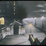 A Night View of Victoria Embankment Photographic Print