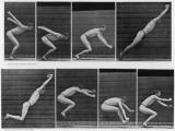 Eight Shots of a Man Jumping Reproduction photographique