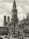 Munich - Neue Rathaus (New Town Hall) and Cathedral Photographic Print