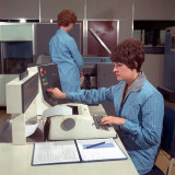 Computer Operators Photographic Print by Heinz Zinram