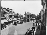 Ashford, Kent the High Street, with an Open Top Bus Signed Maidstone Photographic Print