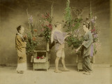 Flower Seller in Japan Photographic Print
