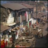 Aerial View of Slum Housing in Calcutta, India Photographic Print