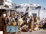 Scene at a Busy Street Market in Tangiers, Morocco Photographic Print by Vanessa Wagstaff