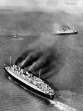 R.M.S. 'Queen Mary' and R.M.S. 'Queen Elizabeth' Photographic Print