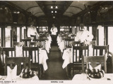 Railway Dining Car with Waiters Photographic Print