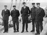 Amundsen and His Team at Hobart, Photographic Print