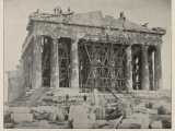 Restoration Work on the Parthenon Photographic Print