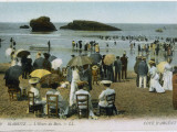 Biarritz: the Beach at Bathing Time Photographic Print