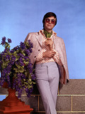 Retro Male Model Leaning, Fashions, Trends, 1970s Photographic Print