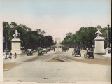 Avenue Des Champs Elysees, with Cars, and a Few Cyclists Photographic Print