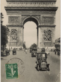 Paris: Arc De Triomphe with Early Cars Photographic Print